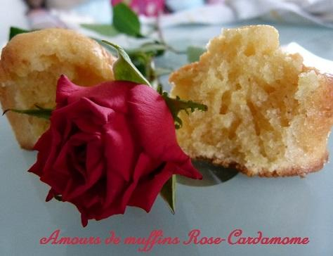 Amours de muffins rose cardamome