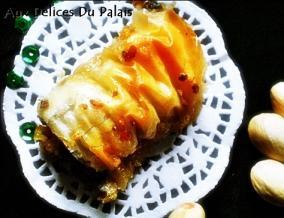 Baklawa rolls aux pistaches