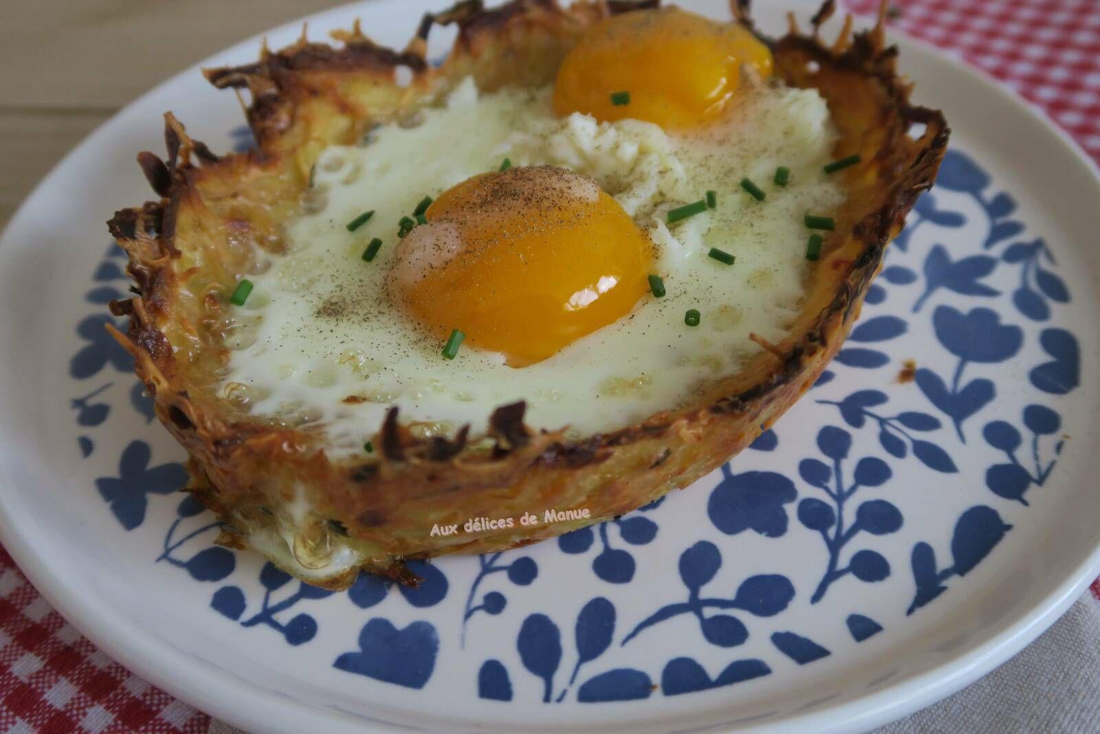 Barques de pommes de terre aux ufs cocotte