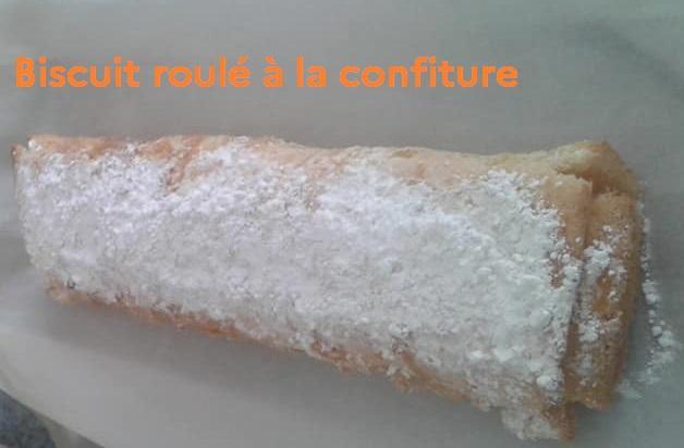 Biscuit roule a la confiture