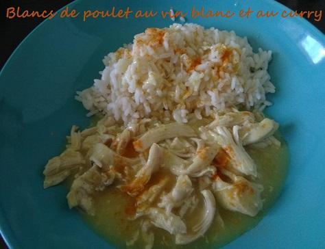 Blancs de poulet au vin blanc et au curry