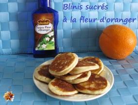 Blinis sucres a la fleur d oranger