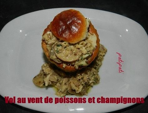 Bouchees de cabillaud et champignons sauce citronnee