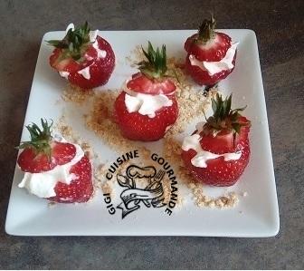 Bouchees de fraises facon tiramisu
