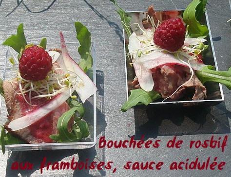 Bouchees de rosbif aux framboises sauce acidulee 2