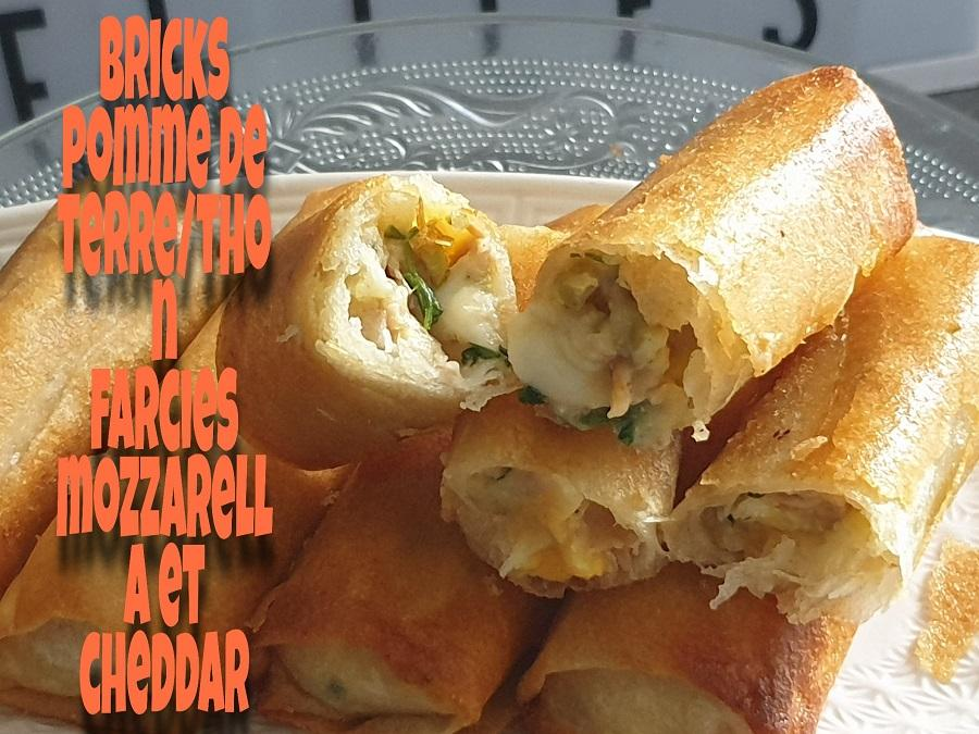 Bricks pomme de terre thon mozzarella et cheddar