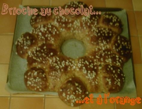 Brioche au chocolat et a l orange