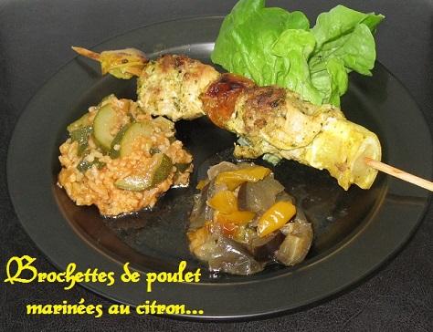 Brochettes de poulet marinees au citron