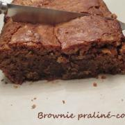 Brownie praline coco