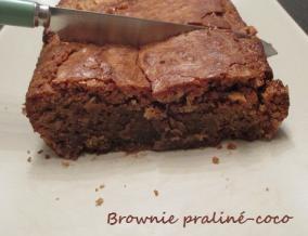 Brownie praline coco