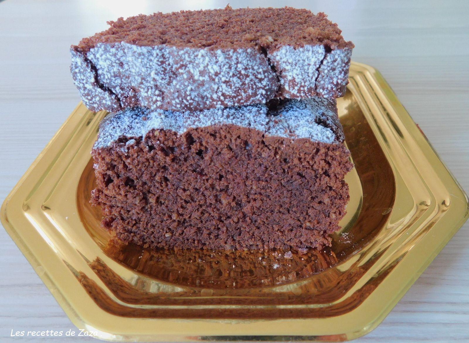 Cake au chocolat et a la poudre d amandes
