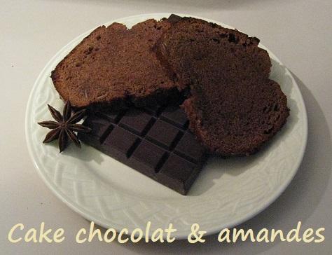 Cake au chocolat et aux amandes