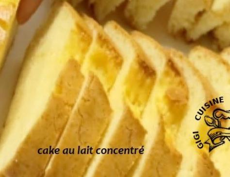 Cake au lait concentre