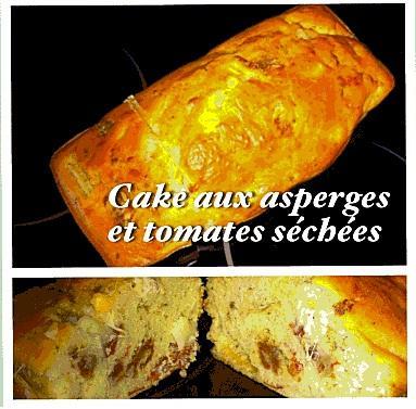 Cake aux asperges et tomates sechees