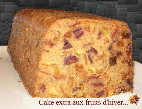 Cake extra aux fruits d hiver