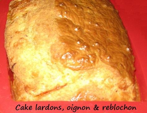 Cake lardons oignon et reblochon