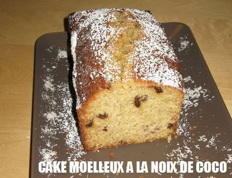 Cake moelleux a la noix de coco