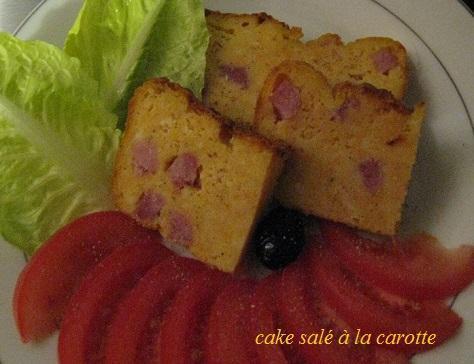 Cake sale a la carotte