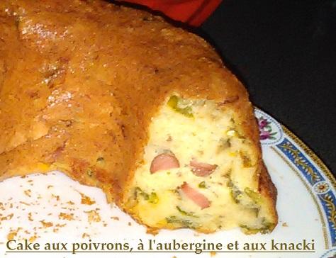 Cake sale aux poivrons aubergine et knacki