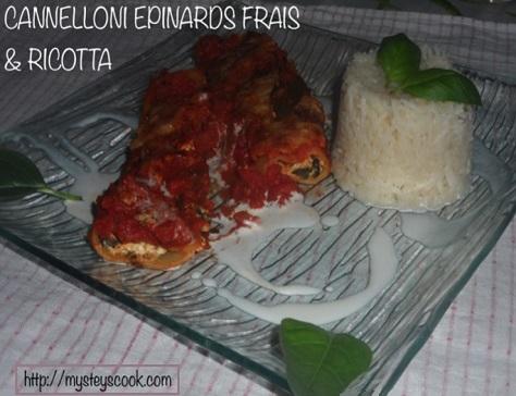 Cannelloni aux epinards frais et a la ricotta