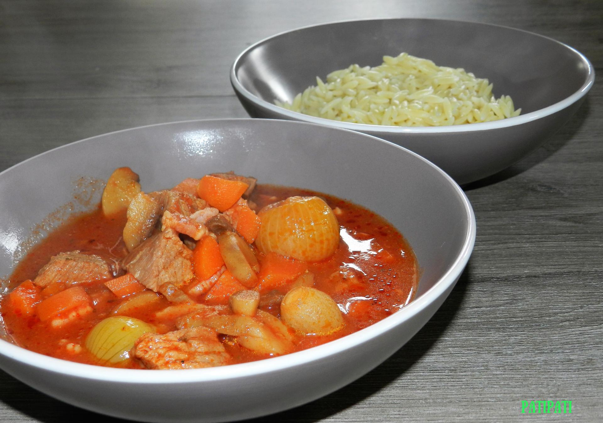 Carbonnades a la sauce tomate