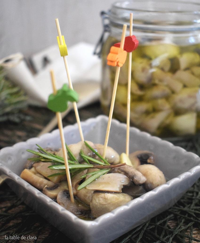 Champignons de paris a l huile d olive