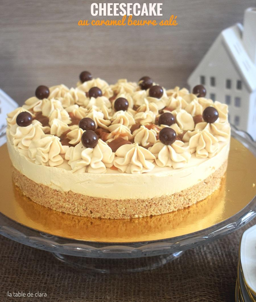 Cheesecake au caramel beurre sale