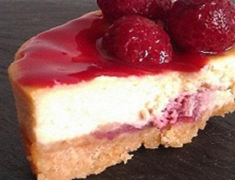 Cheesecake coeur surprise framboise