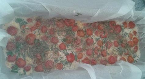 Clafoutis aux tomates cerises 3