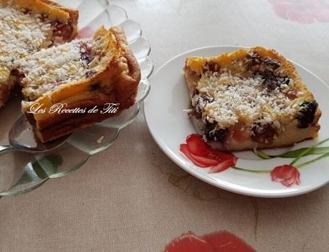 Clafoutis cerises et coco