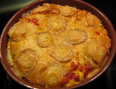 Clafoutis jambon poivron et chevre