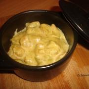 Cocottes de crevettes au curry et a la creme de coco