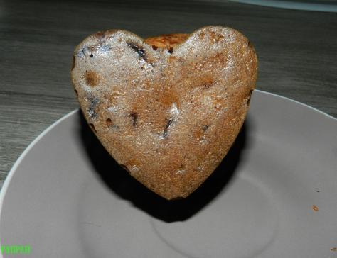Coeur de gateau aux bananes et pepites de chocolat