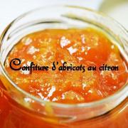 Confiture d abricots au citron
