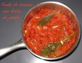 Coulis de tomates a ma facon