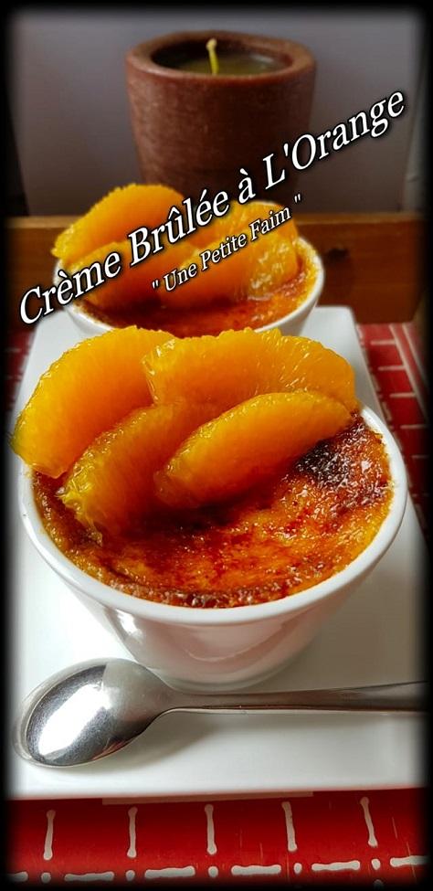 Creme brulee a l orange