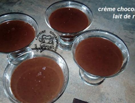 Creme chocolat au lait de riz