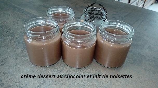 Creme dessert au chocolat et lait de noisettes au thermomix