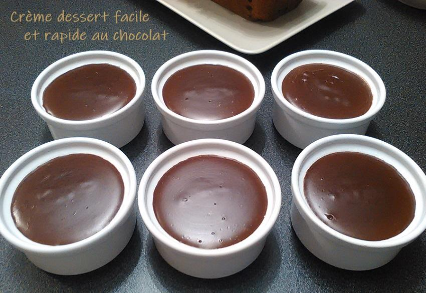 Creme dessert facile et rapide au chocolat