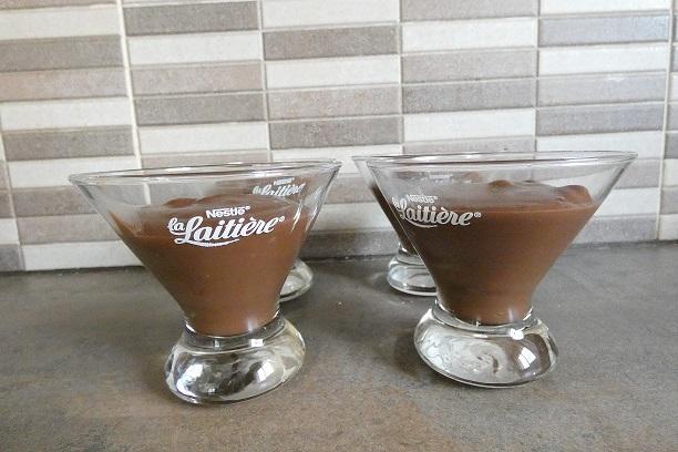 Creme dessert soja et chocolat noir au compact cook