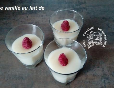 Creme vanille au lait de riz