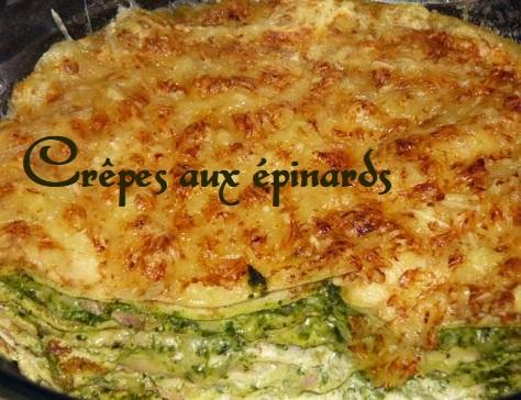 Crepes aux epinards