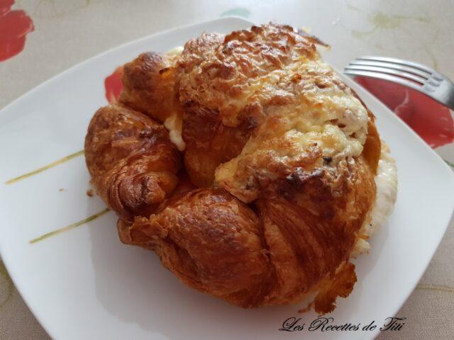 Croissants jambon fromage
