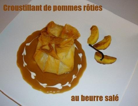 Croustillant de pommes roties au beurre salé 1