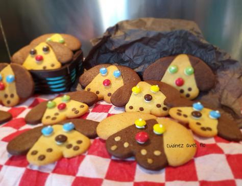 Biscuits sablés tête de chien trop choux