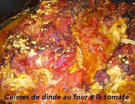 Cuisses de dinde au four a la tomate