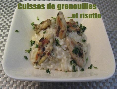 Cuisses de grenouilles a la persillade et risotto au parmesan