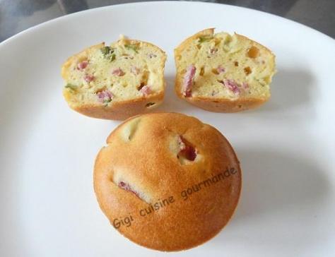 Cupcake jambon fume et cornichons