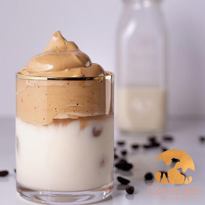 Dalgona coffee au lait de chamelle