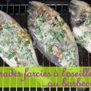 Daurades royales farcies a l oseille au barbecue